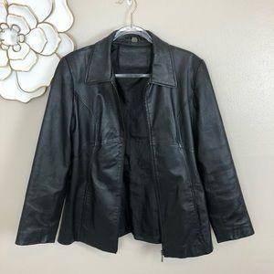 Leather jacket vintage Jaqueline Ferrar